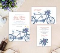 Bicycle Wedding Invitation Sets - LemonWedding