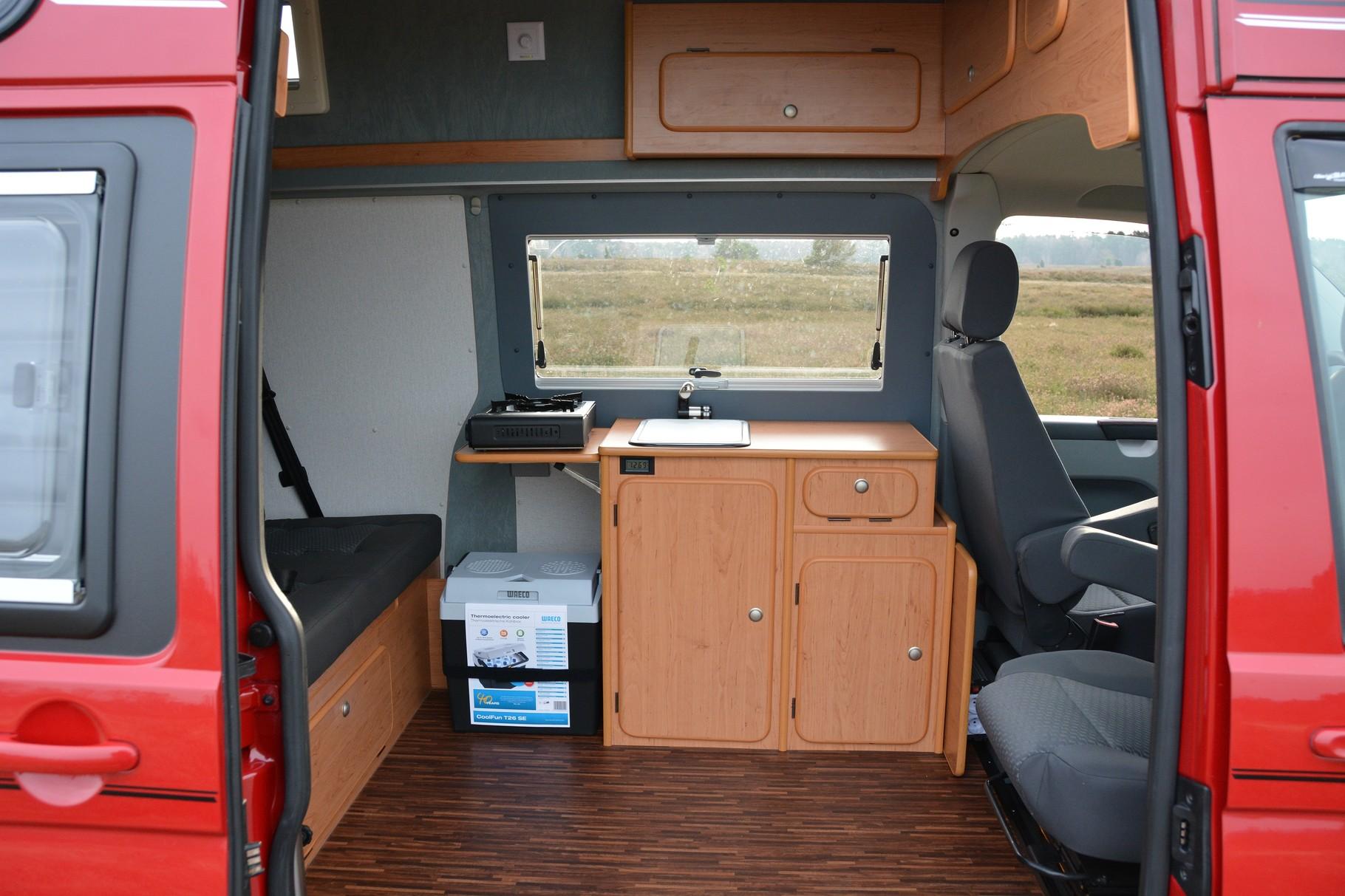 Spacecamper classic der vw t6 camping ausbau t4 k che for Kuchenblock wohnmobil gebraucht