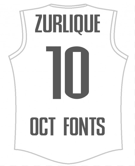 Printing Fonts - Sportswear Supplier in Singapore