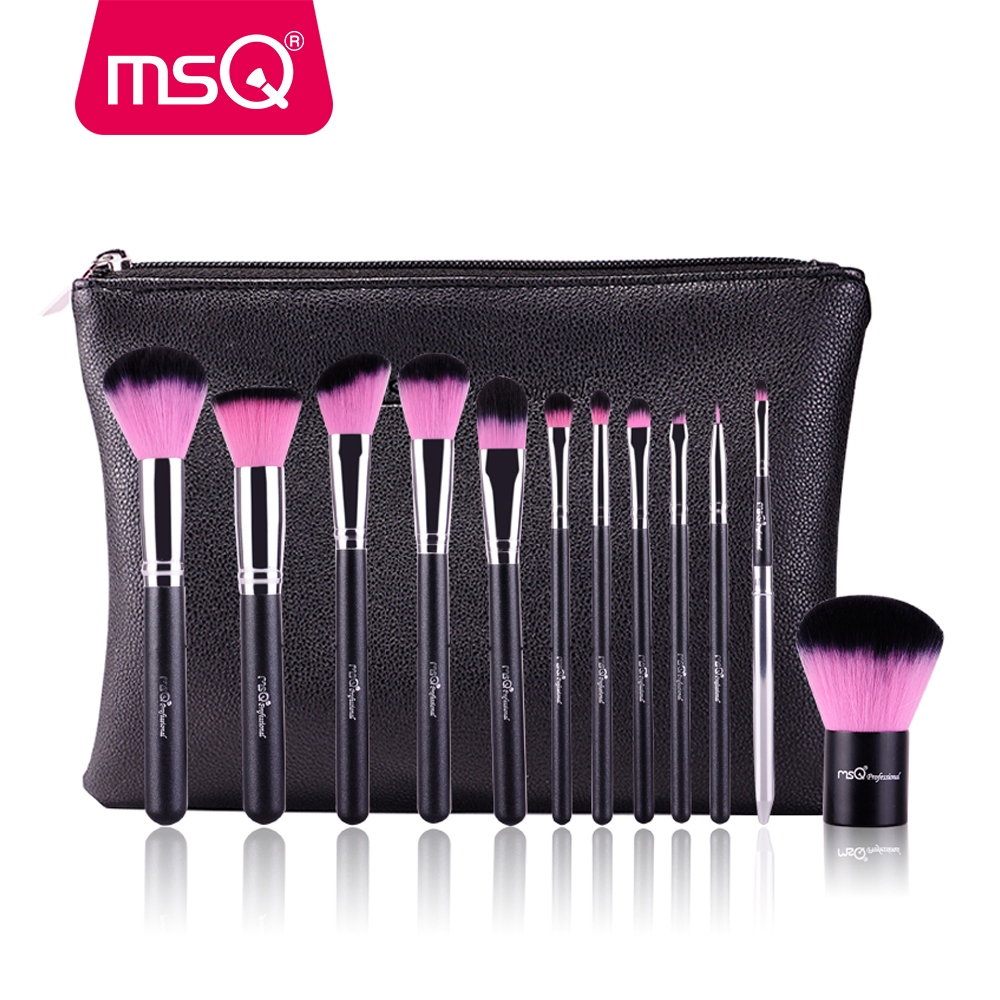 Pinsel Set Msq 12 Stücke Make Up Pinsel Set Powder Foundation Lidschatten Make Up Brush Pink