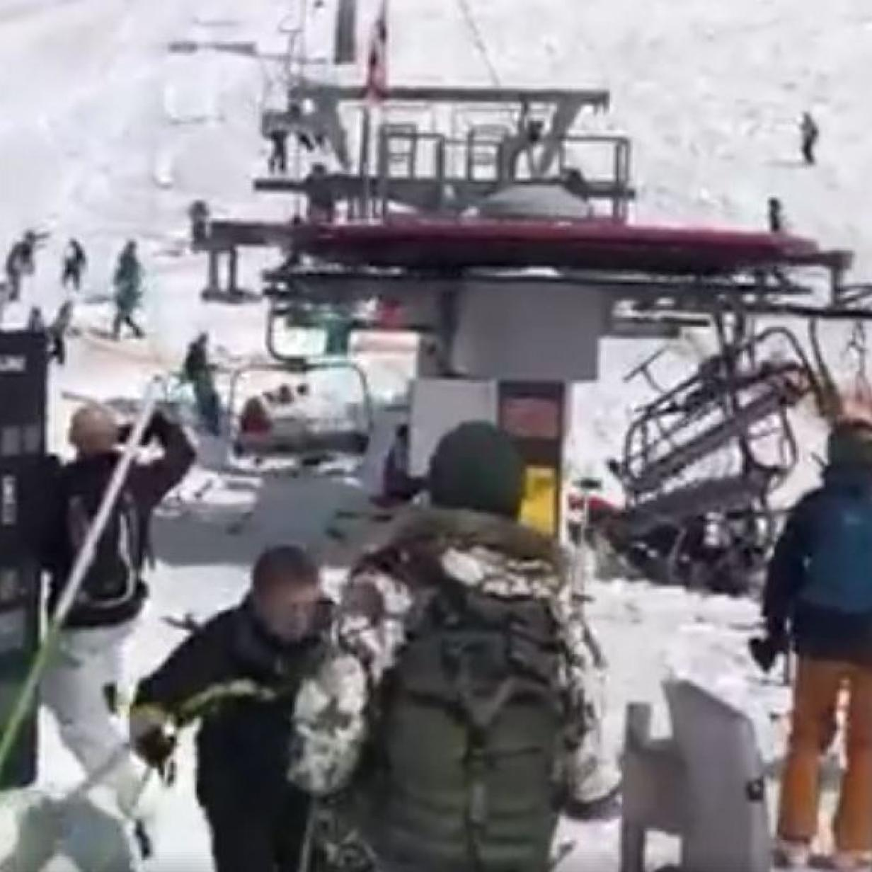 Sessel Unfall Georgien Video Passagiere Aus Skilift In Georgien Geschleudert Kurier At