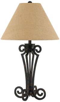Blacksmith Black Wrought Iron Scroll Table Lamp - #10T96 ...