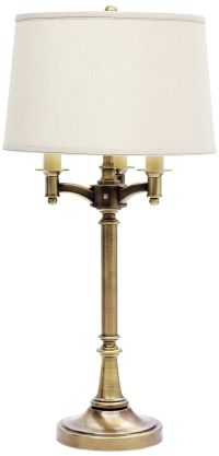 House of Troy Lancaster 4-Light Antique Brass Table Lamp ...