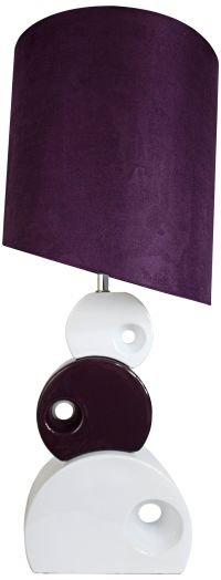 Selden Purple and White Stacked Circle Table Lamp - #7K014 ...