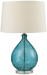 Dimond Wayfarer Teal Blue Blown Glass Table Lamp