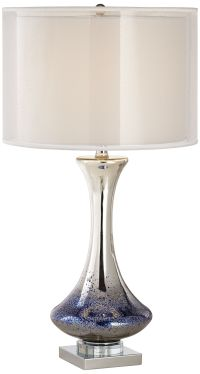 Dinorah Blue Mercury Glass Table Lamp