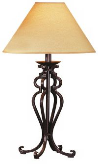 Rustic Wrought Iron Look Table Lamp - #88553 | www ...