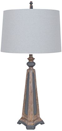 Crestview Augustine Two-Tone Old World Table Lamp - #8V305 ...