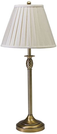 House of Troy Vergennes Pineapple Brass Table Lamp ...