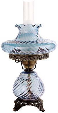 Blue Tamoshanta Swirl Night Light Hurricane Table Lamp - # ...