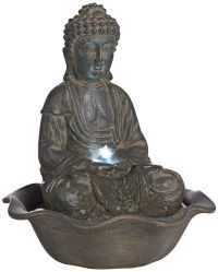 Indoor-Outdoor LED Seated Buddha Water Fountain - #V8013 ...
