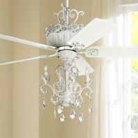 "52"" Casa Chic Rubbed White Chandelier Ceiling Fan - #12277 ..."