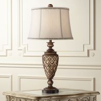 Nicole Light Bronze Urn Table Lamp - #1F447 | Lamps Plus