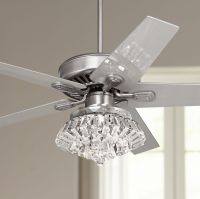 "52"" Windstar II Steel Crystal Light Kit Ceiling Fan ..."