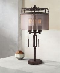 Lock Arbor Industrial Cage Metal Table Lamp