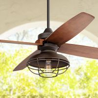 "52"" Casa Vieja Impel Franklin Park Bronze Damp Ceiling Fan"