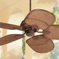 "52"" Casa Vieja Rattan Outdoor Ceiling Fan"