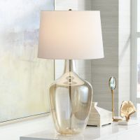 Ania Champagne Glass Jar Table Lamp - #6R998 | Lamps Plus