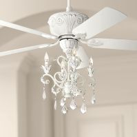 Casa Deville Rubbed White Chandelier Ceiling Fan - #87534 ...