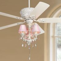 Casa Deville Pretty in Pink Pull Chain Ceiling Fan ...