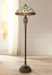 Leaf and Vine II Tiffany Style Floor Lamp - #8J045 | Lamps ...