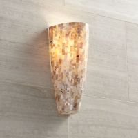 Possini Euro Design Mother of Pearl Mosaic Wall Sconce - # ...