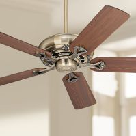 "52"" Casa Vieja Trilogy Antique Brass Ceiling Fan"