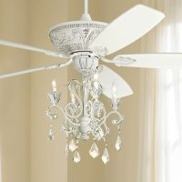 "60"" Casa Montego Rubbed White Chandelier Ceiling Fan"
