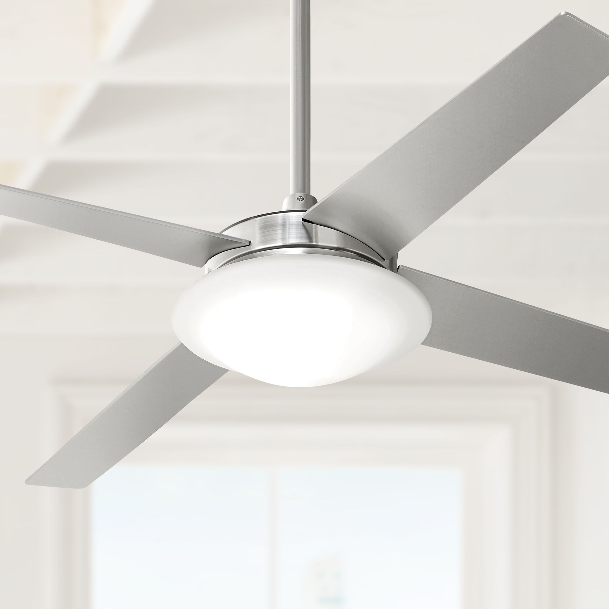 "52"" Casa Vieja Exclaim Brushed Nickel Ceiling Fan"