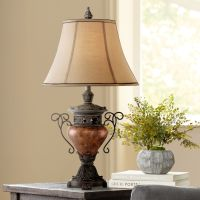Large Bronze Crackle Urn Table Lamp - #T4572 | Lamps Plus