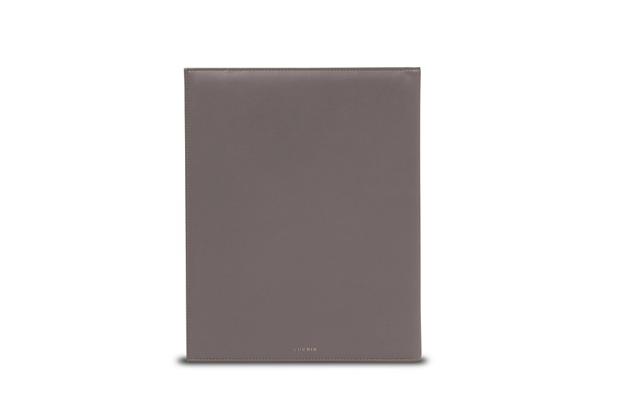 Leather Signing Pad Light Taupe Smooth Leather