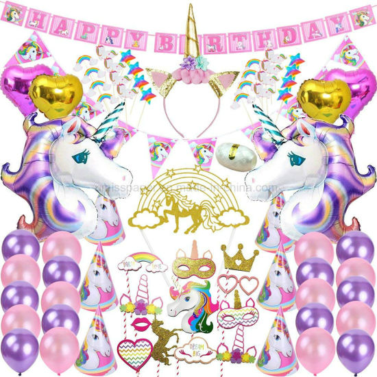 China Umiss Paper Happy Birthday Letter Banner Party Unicorn