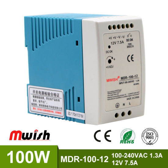 China Mdr-60W Ce 12W Power Supply Circuit for LED Light Slim DIN