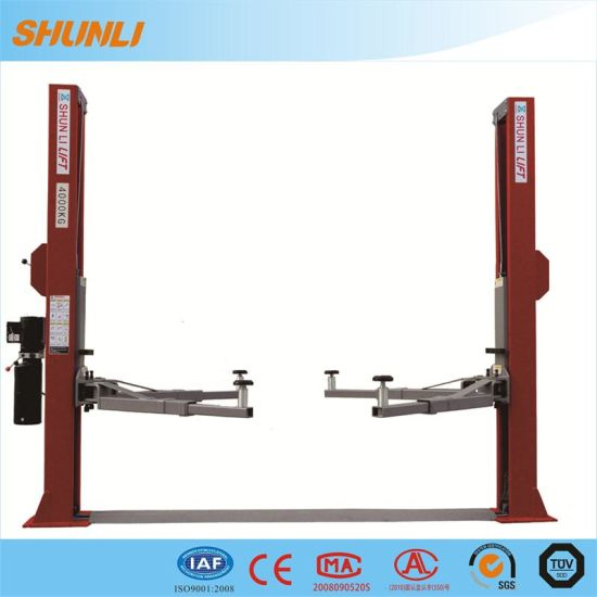 China 4 Tonne Two Post Car Lift with Manual Release - China Two Post