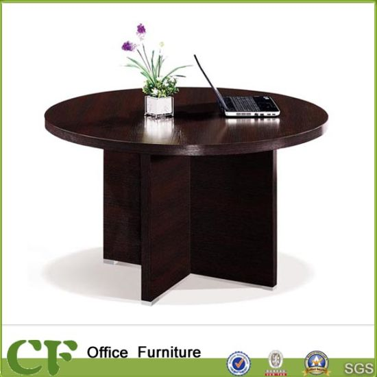 China Hot Selling Office Table Round Wooden Tea Table Design - China