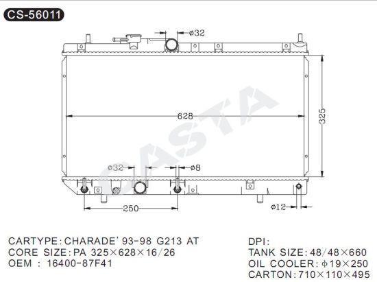 China Auto Spare Parts Radiator for Daihatsu Charade\u203293-98 G213 at