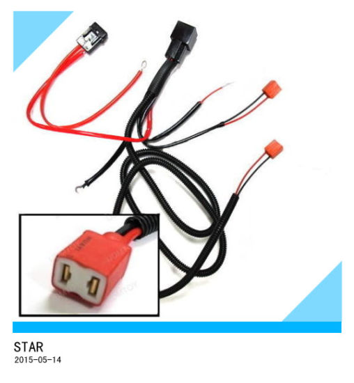 China H1 H3 H7 Relay Wiring Harness for HID Conversion Kit Add on