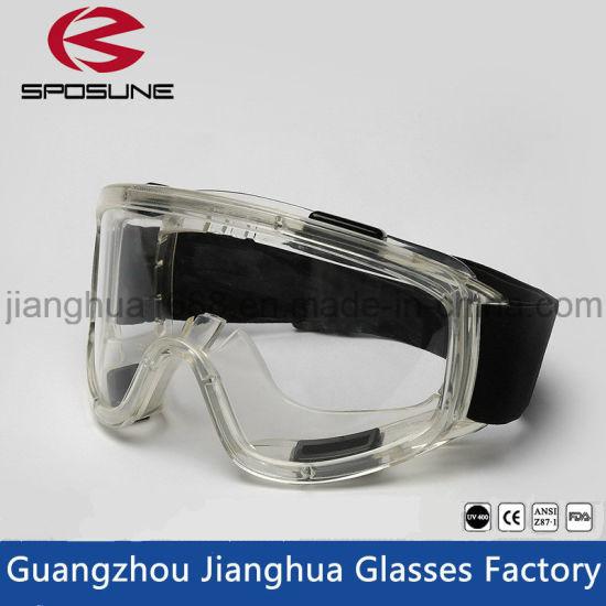 China Transparent Ce En 166 Ventilate HD Vision Crashproof Safety