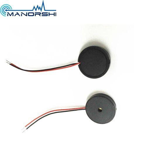 China 1240 Wire 5V Piezo Murata Small Buzzer Diameter 12mm - China