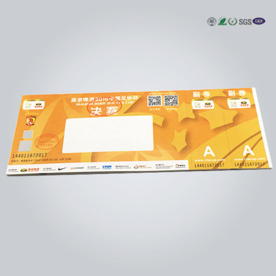 China Printable RFID Label Tear-off Thermal Paper Event Ticket Tag - printable ticket paper