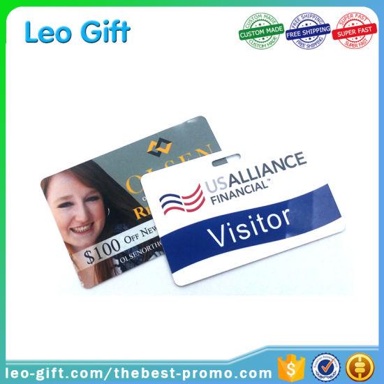China Glossy Staff Photo ID Cards Membership Cards Free Sample
