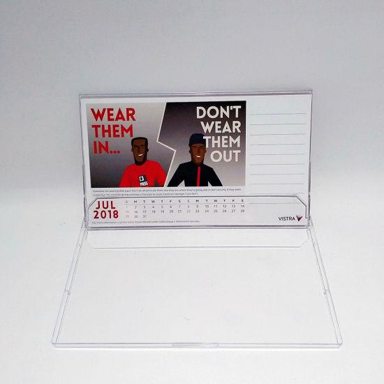 China Custom Table Calendar Acrylic Box Printable Calendars - China