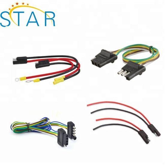 China Customized Automotive 4/5 Way Trailer Light Wire Harness