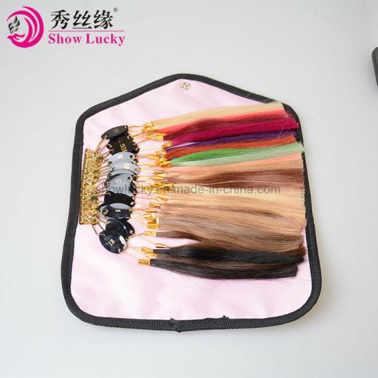 China Human Hair Color Ring 32PCS/Set for Salon Hair Color Chart