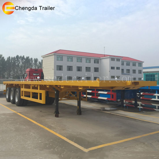 China 40feet Tri Axle Flatbed Trailer for Sale in Kenya - China