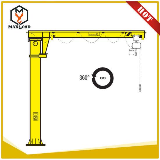 Rich Experience Electric Chain Hoist Rotation Jib Crane Manufacturer