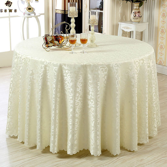China Colorful Hotel Table Tablecloth Banquet Wedding Restaurant