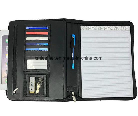China Expanding Presentation File Folder Document Organizer Leather