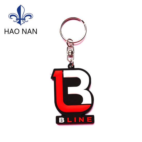 China Wholesale PVC Logo Funny Logo Keychain for Promotional - China