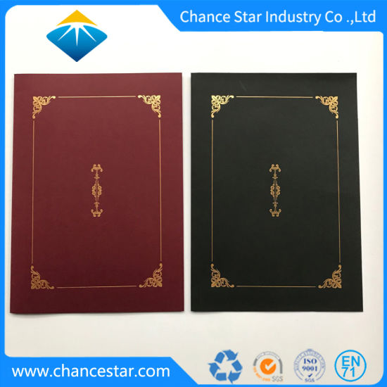 China Custom Graduation Certificate Paper Holder with Foil Stamping - Graduation Certificate Paper